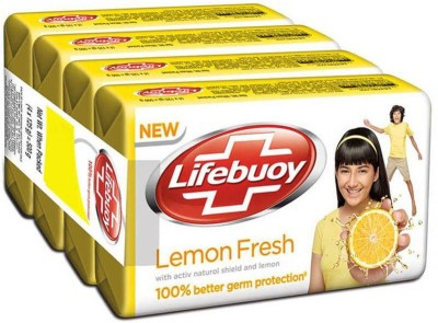 Lifebuoy lemon fresh 125g (pack of 4)(4 x 31.25 g)