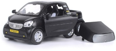Emob Battery Operated Die Cast Black 6 Wheels Model Car Toy with Light and Sound Effects(Multicolor)