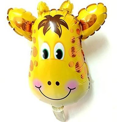 GrandShop Printed Animal Zoo Jungle Safari Theme with Balloon Stick Balloon(Multicolor, Pack of 1)