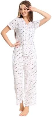 Piu Women Printed Multicolor Top & Pyjama Set