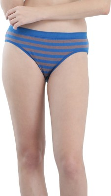 FEMULA Women Hipster Blue, Grey Panty(Pack of 2)