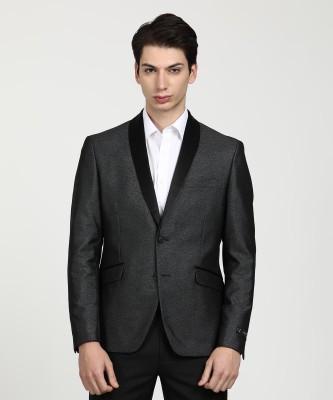 V Dot by Van Heusen Solid Tuxedo Style Party Men Blazer(Pink)