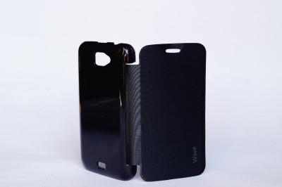 oramsa Flip Cover for intex AQUA WAVE Cover case Flip Flap Cover case Diary (BLACK)(black, Dual Protection, Artificial Leather) Flipkart