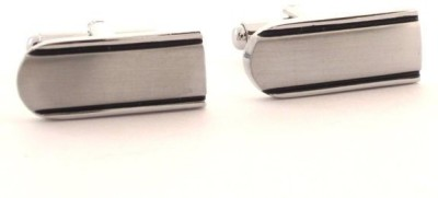the jewelbox Brass Cufflink Set(Silver)