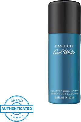 Davidoff Cool Water All Over Deodorant Body Spray For Men 150 ml