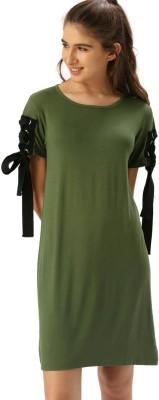 Dressberry Women T Shirt Green Dress