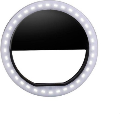 Mobone Selfie Enhancing Ring Light with 3 Level of Brightness for Photography Video Calling Ring Flash(Black)