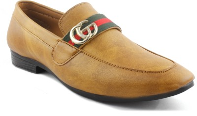 Global Rich Loafer Brown 1 Loafers For Men(Brown)
