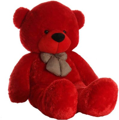TEDDYSOME 5 Feet Stuffed Spongy Cute   Soft Teddy Bear for annivesary and birthday gift   149 cm Red TEDDYSOME Soft Toys