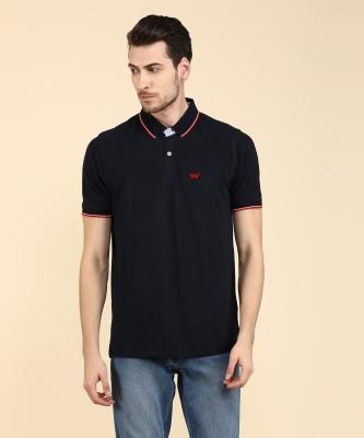 Hardys Solid, Self Design Men Polo Neck Blue, Dark Blue T-Shirt(Pack of 2)
