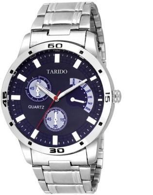 TARIDO TD1198SM04 Exceptional black dial stainless steel strap Day   Date print analog wrist Analog Watch   For Men TARIDO Wrist Watches