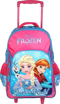 Disney Frozen Sister Rules (Pink and Blue) 16 inch School Bag(Pink, Blue, 30 L)