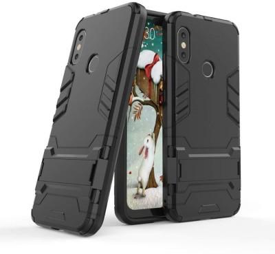 Tarkan Back Cover for Redmi 6 Pro Heavy Duty Shockproof Armor Kickstand Back Case Cover For Redmi 6Pro Black(Black, Waterproof, Metal)