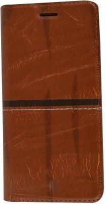 Vibhar Flip Cover for Mi A2 Brown
