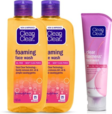 Clean & Clear Fairness And Foaming Face Wash(380 ml)