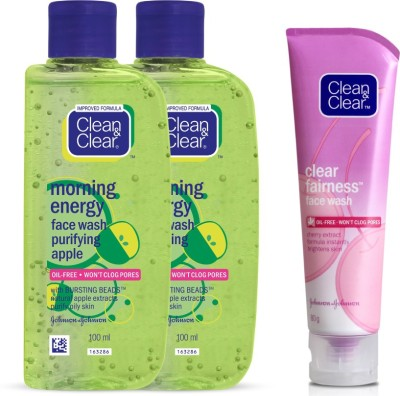 Clean & Clear Morning Energy Purifying Apple Face Wash(280 ml)