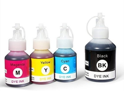 Printwell Photo Quality Refill Ink for Brother BT5000 & BT6000BK Compatible for T300, T500, T700W, T800W Printer (Black 100ML & Color 50ML Each) Multi Color Ink Bottle(Magenta, Cyan, Black, Yellow)