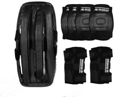 Wintex Protective Skating Guard Kit | Skate + Cycling Protection Set | Multi Sport Gear for Kids Children Age 6-16 Years | Set of 7 Pc | Helmet Elbow Guards Knee caps Hand Gloves 7 in 1 Skating Kit