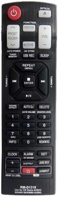 LipiWorld RM-D1318(AKB73655763 AKB73575431 AKB73575421 AKB73655733 AKB73655762 AKB73655723) Remote Compatible with System Lg Remote Controller(Black)