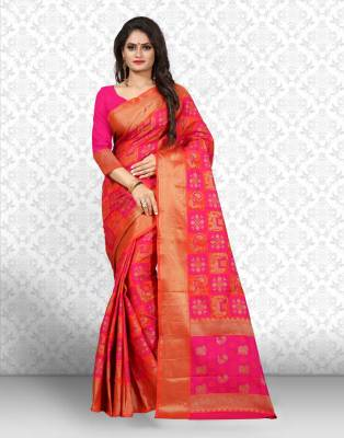 Divastri Checkered Patola Jacquard, Silk Saree
