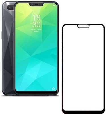 Micvir Edge To Edge Tempered Glass for OPPO A5, Oppo A3s, Realme 2, Realme C1, Realme C1(Pack of 1)