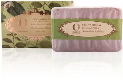 Ohria Ayurveda Cinnamon & Green Tea Atioxidant & Uplifting Traditional Bath Soap - 4.2 oz(120 g)