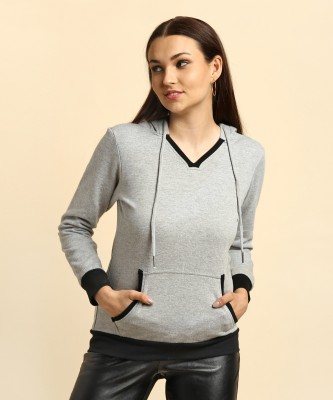 Allen Solly Full Sleeve Solid Women's Sweatshirt