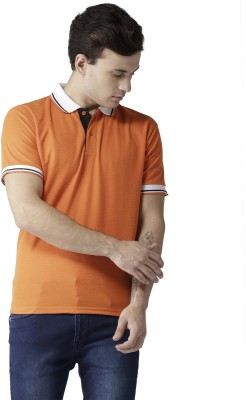 TSX Solid Men Polo Neck Orange T-Shirt
