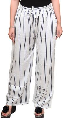 stylebutik Regular Fit Women White Trousers