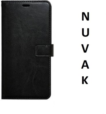 Nuvak Flip Cover for Lava Z50(Black, Dual Protection)