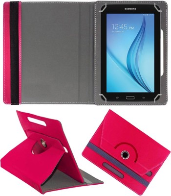 """Fastway Flip Cover for Samsung Galaxy Tab E Lite 7.0"""" 8GB (Wi-Fi)(Pink, Cases with Holder)"""