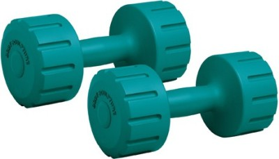 Body Sculpture Vinyl Dumbbell, 6 kg Pair Fixed Weight Dumbbell(6 kg)
