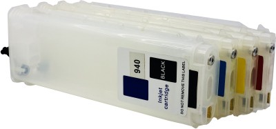 UV 940 (C/M/Y/B) EMPTY REFILLABLE CARTRIDGE WITH AUTO RESET CHIP (ARC) FOR USE WITH HP 8000 Multi Color Ink Cartridge(Black, Magenta, Yellow, Cyan)
