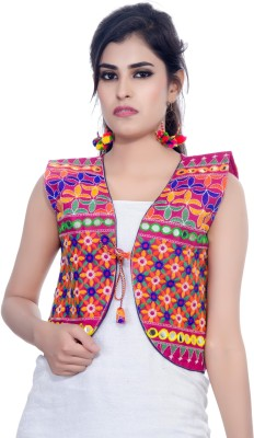 Banjara India Sleeveless Applique Women Jacket
