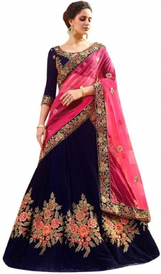 PURVAJA Embroidered Semi Stitched Lehenga Choli(Multicolor)