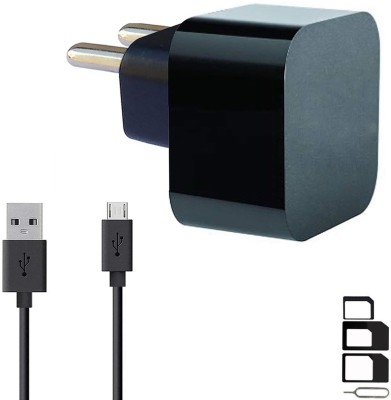 UrCart Wall Charger Accessory Combo for LG Optimus L5 Dual E615, LG G Pro 2, LG Optimus L4 II Dual E445, LG Optimus L3 II E425, LG G4 Stylus 3G, LG Optimus G Pro, LG L60i, LG F60, LG L Bello, LG L Fino, LG G Pro Lite Dual, LG Max, LG Optimus Hub Charger Original Adapter Like Wall Charger, Mobile Pow