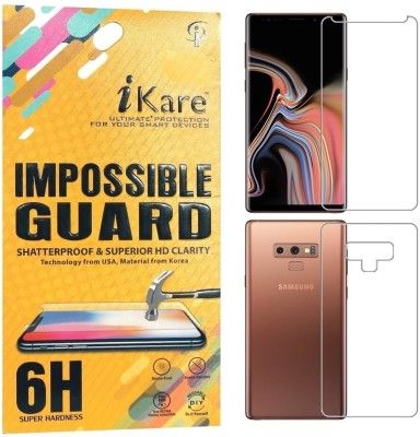 Midkart Front and Back Screen Guard for Samsung Note 9 Premium Fibre Guard Clear Screen Protector(Pack of 1)