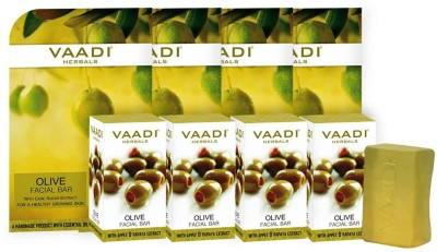Vaadi Herbals Olive Facial Bars with Cane Sugar Extract (25 gms x 4)(100 g, Pack of 4) Flipkart