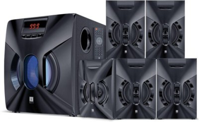 Iball Boom Box BT 80 WATTS 5.1CH WOODEN REALISTIC DEEP SOUND Bluetooth Home Theatre(Black, 5.1 Channel)