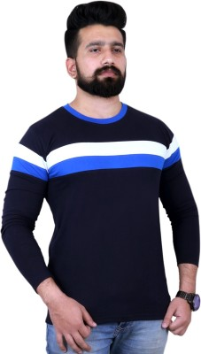 People Solid Men Round Neck Dark Blue T-Shirt