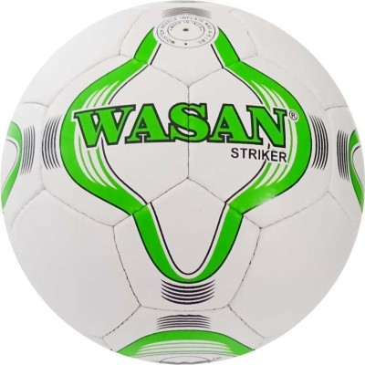 Wasan Striker Football with free pump Football   Size: 5 Pack of 1, White