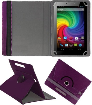 Fastway Flip Cover for Micromax Funbook Mini P410i Tablet(Purple, Cases with Holder)