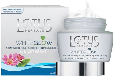 Lotus WhiteGlow Skin Whitening & Brightening Nourishing Night Cream (( 60g ))(60 g)