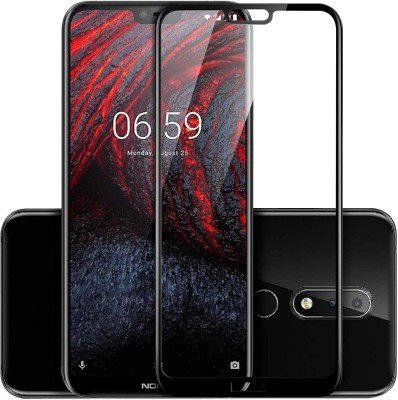 chikis Edge To Edge Tempered Glass for Nokia 6.1 Plus(Pack of 1)