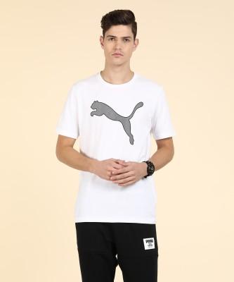 Puma Solid Men Round Neck White T-Shirt