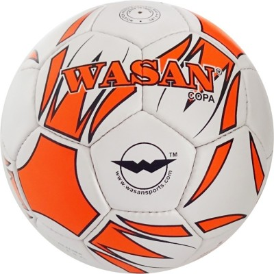 Wasan Copa Football orange  With Free Pump Football   Size: 5 Pack of 1, Orange