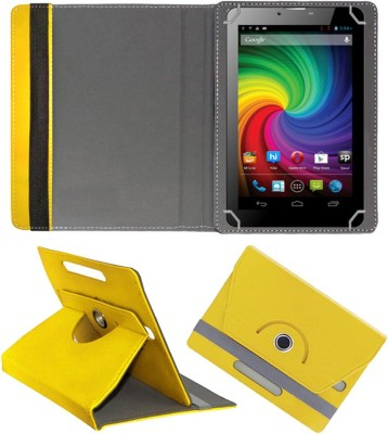 Fastway Book Cover for Micromax Funbook Mini P410i Tablet(Yellow, Cases with Holder)