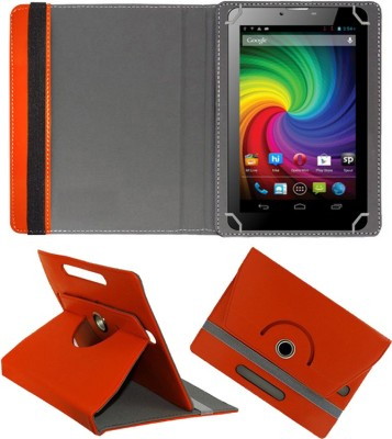 Fastway Book Cover for Micromax Funbook Mini P410i Tablet(Orange, Cases with Holder)