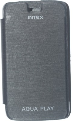 oramsa Flip Cover for INTEX AQUA PLAY Cover case Flip Flap Cover case Diary (black,Artifiicial leather)(black, Dual Protection, Artificial Leather) Flipkart