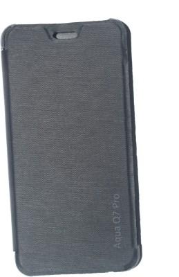 oramsa Flip Cover for Intex Aqua Q7 pro Cover case Flip Flap Cover case Diary (Black,Artifiicial leather)(black, Dual Protection, Artificial Leather) Flipkart